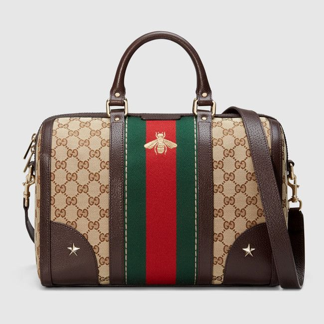 Gucci vintage web bee embroidered bag available at GUCCI.com