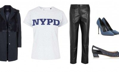 3- High waisted tapered pants + pumps or flats