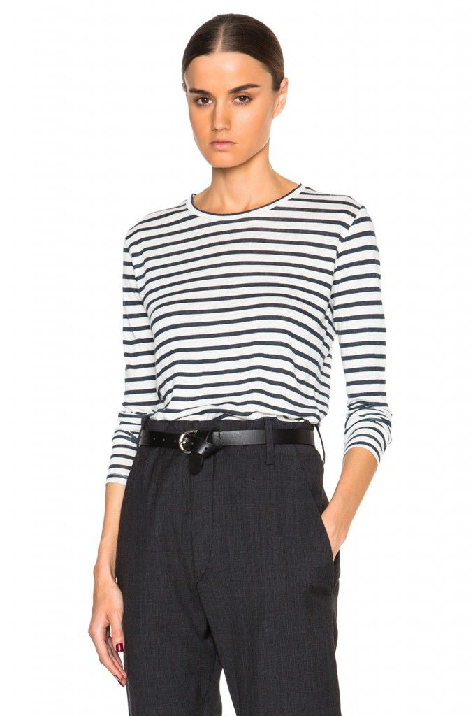 Isabel Marant Étoile Karon striped long sleeve tee available at FORWARD BY ELYSE WALKER