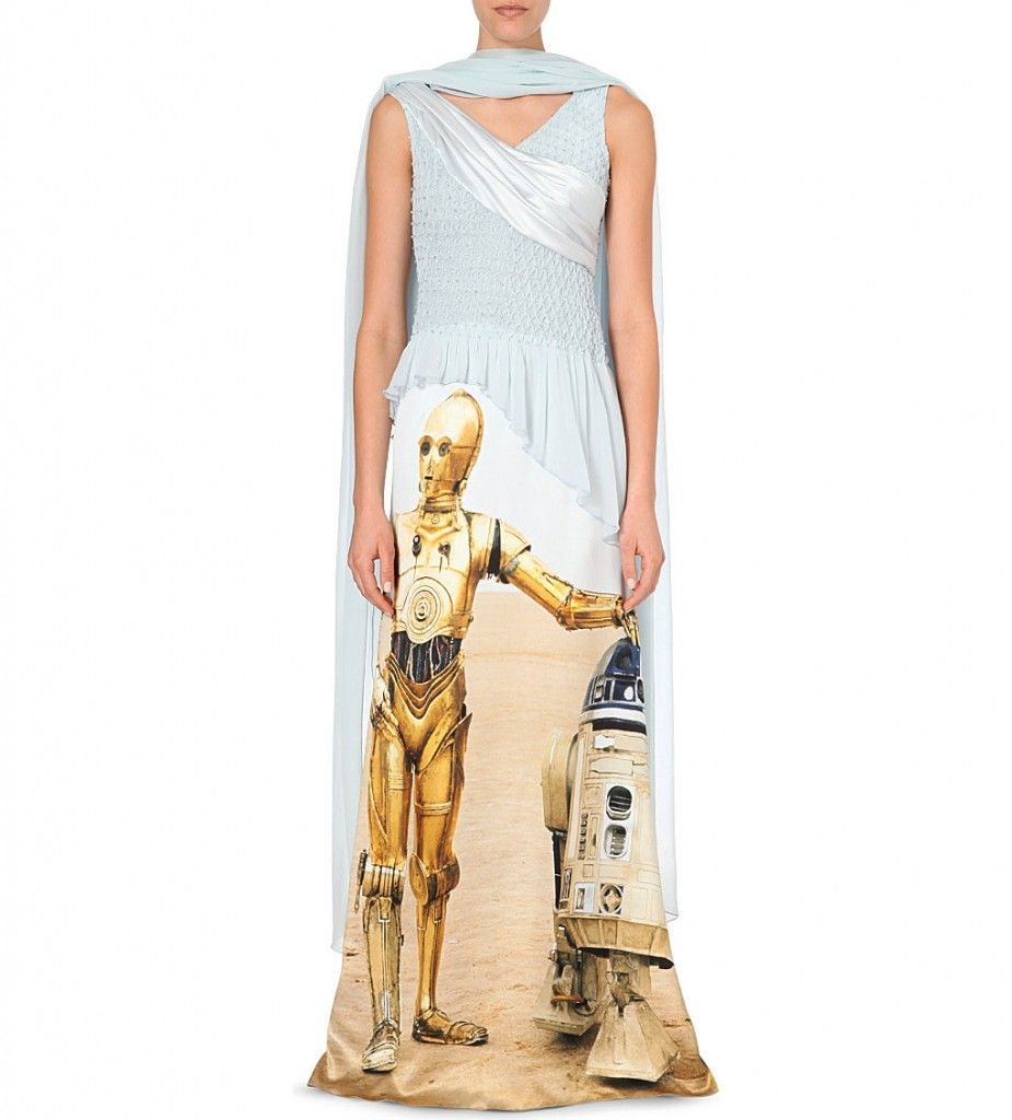 Rodarte r2d2 draped silk satin gown available at SELFRIDGES