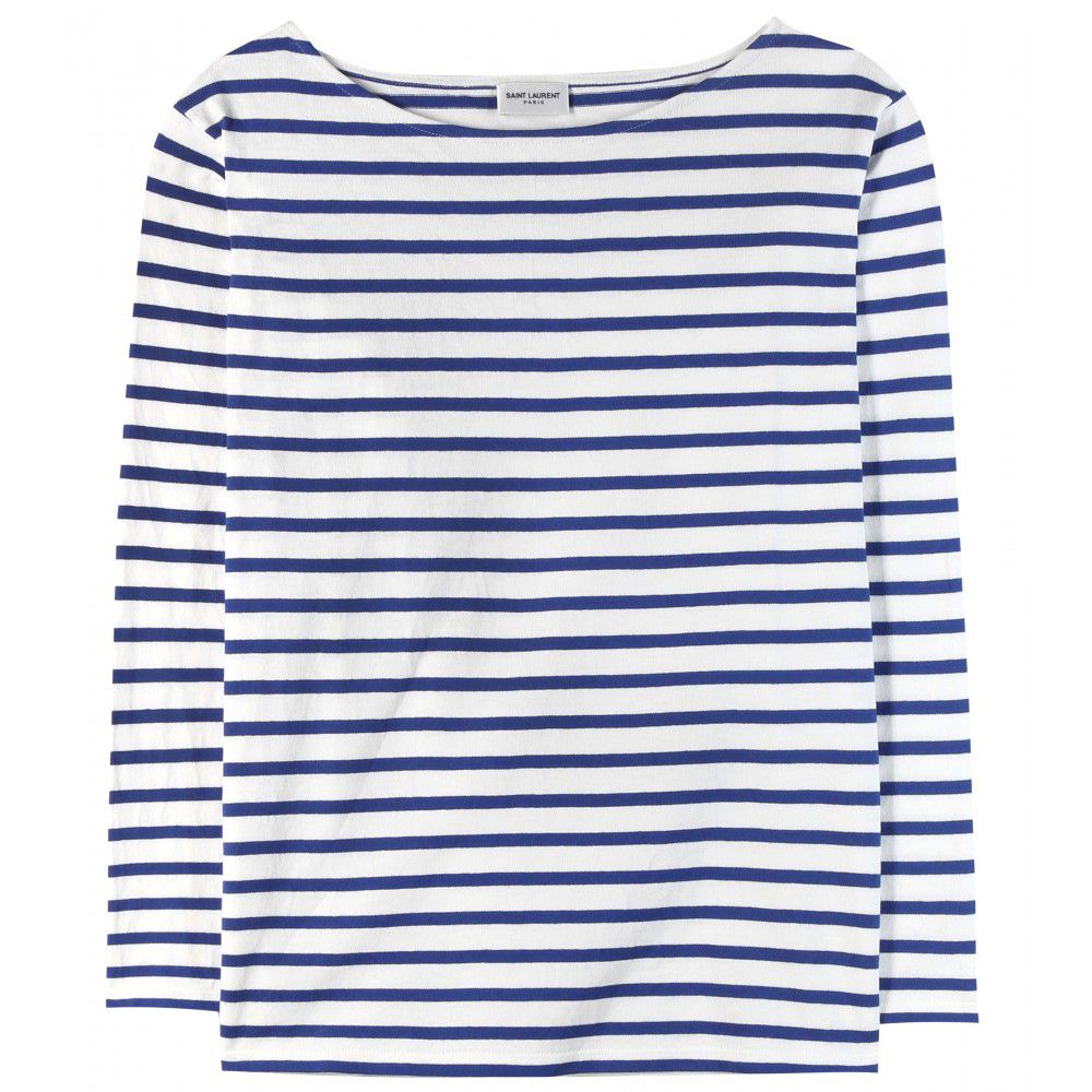 Saint Laurent Breton stripes cotton top available at MYTHERESA.com