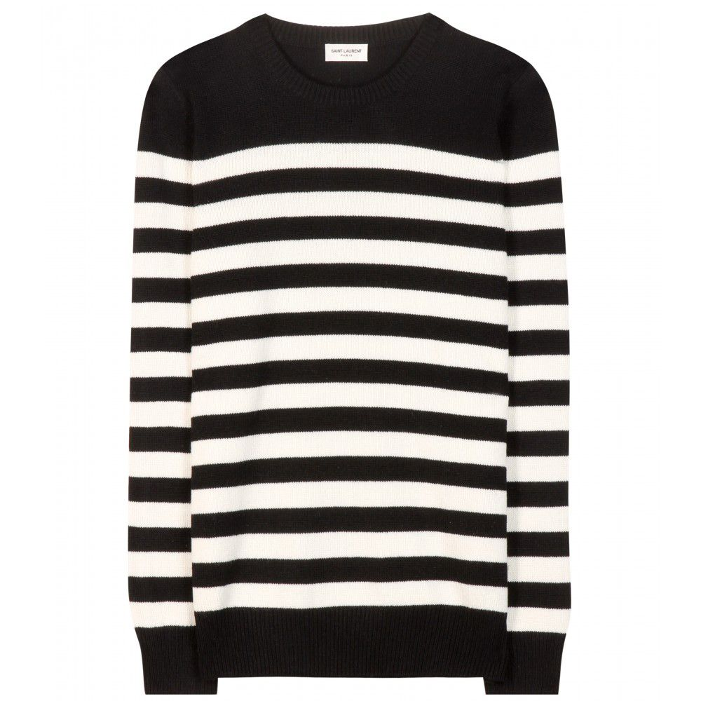 Saint Laurent striped cashmere sweater available at MYTHERESA.com