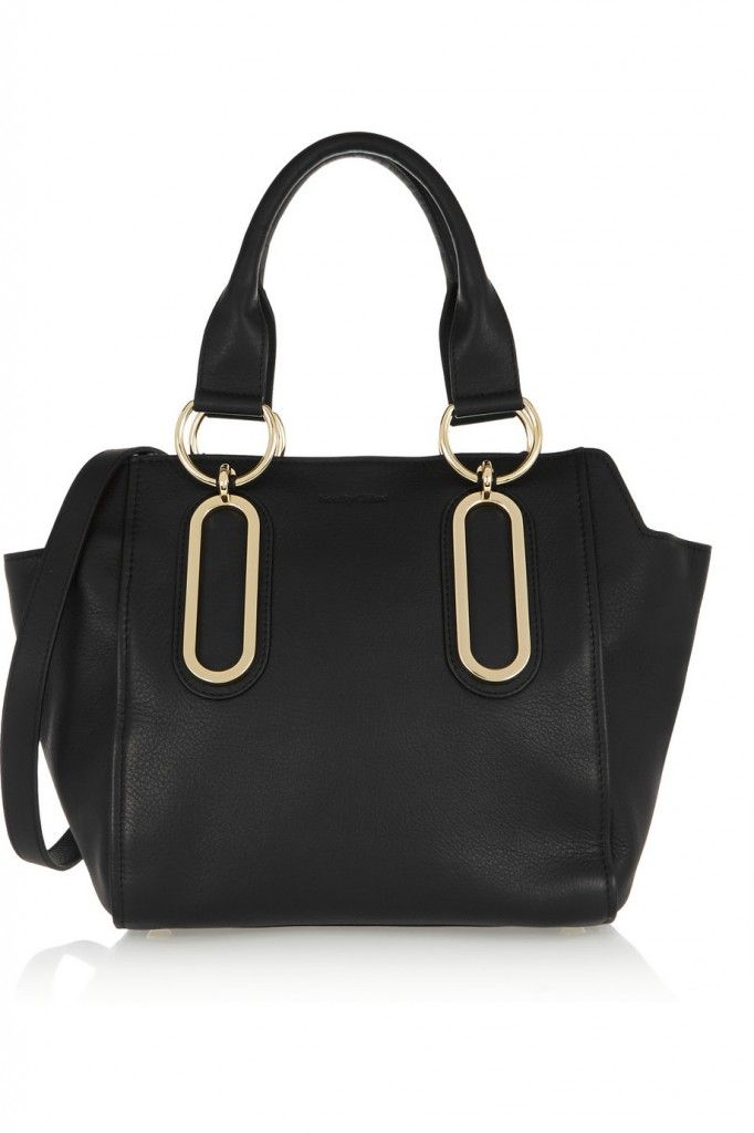 * See by Chloé Paige medium black textured-leather shoulder bag available at NET-A-PORTER