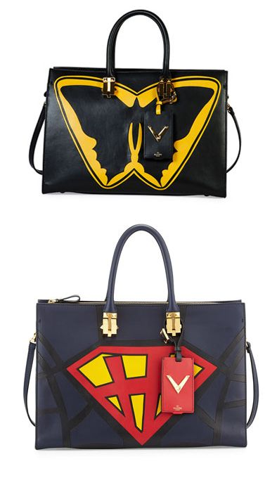 * Valentino Superhero Batman tote bag available at NEIMAN MARCUS