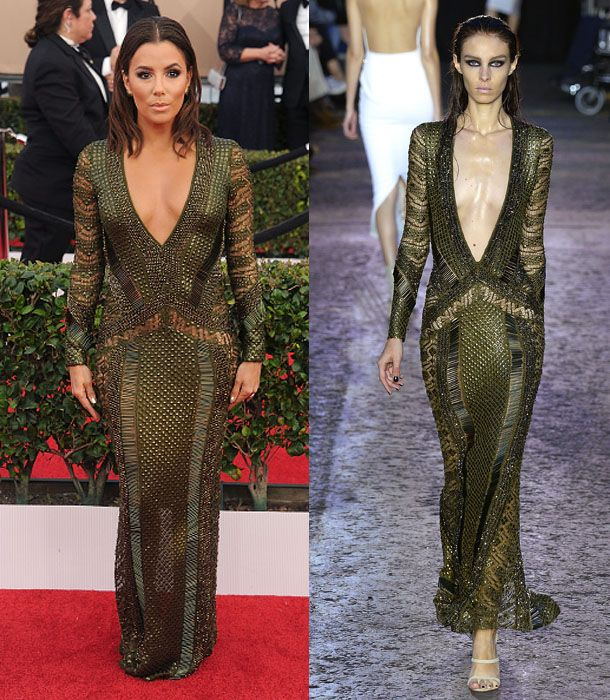 Eva Longoria in Julien Macdonald SS16