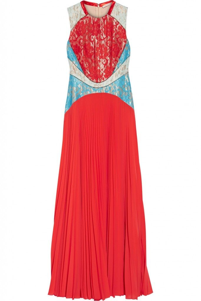 Also available in mint, turquoise  and white lace plus tomato red pleated chiffon, at NET-A-PORTER