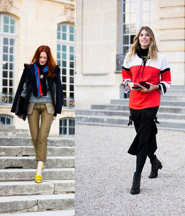 Taylor Tomasi Hill (she's back!) and Veronika Heilbrunner outside the Musée Rodin.