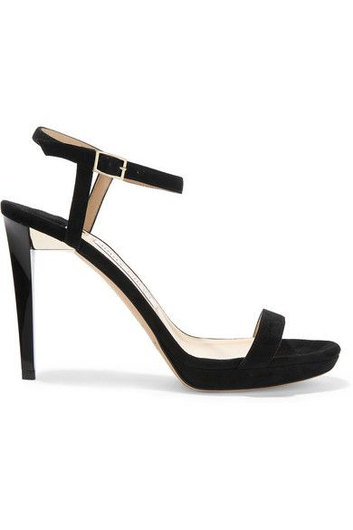 Jennifer's black suede platform sandals by Jimmy Choo are available at NET-A-PORTER
