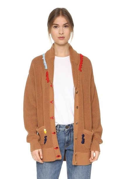 Nina Ricci chunky cardigan available at SHOPBOP.com