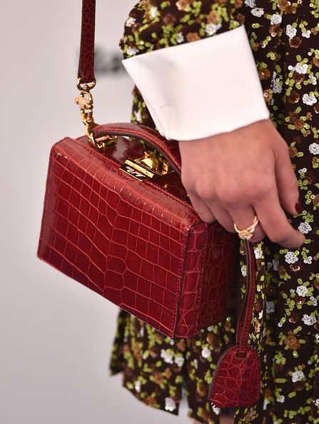 Emilia's Mark Cross Grace crocodile shoulder bag is available at NET-A-PORTER