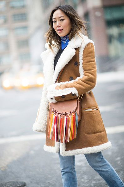 Aimee's Chloé Hudson multicolor suede fringe caramel lether bag available at NEIMAN MARCUS