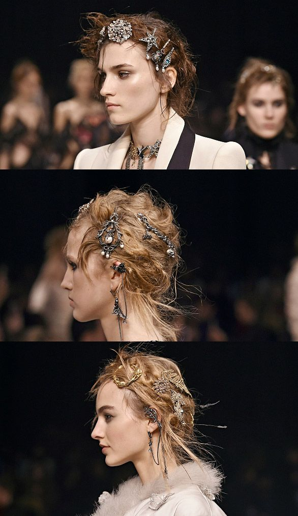 Alexander McQueen Fall 2016 runway show beauty looks