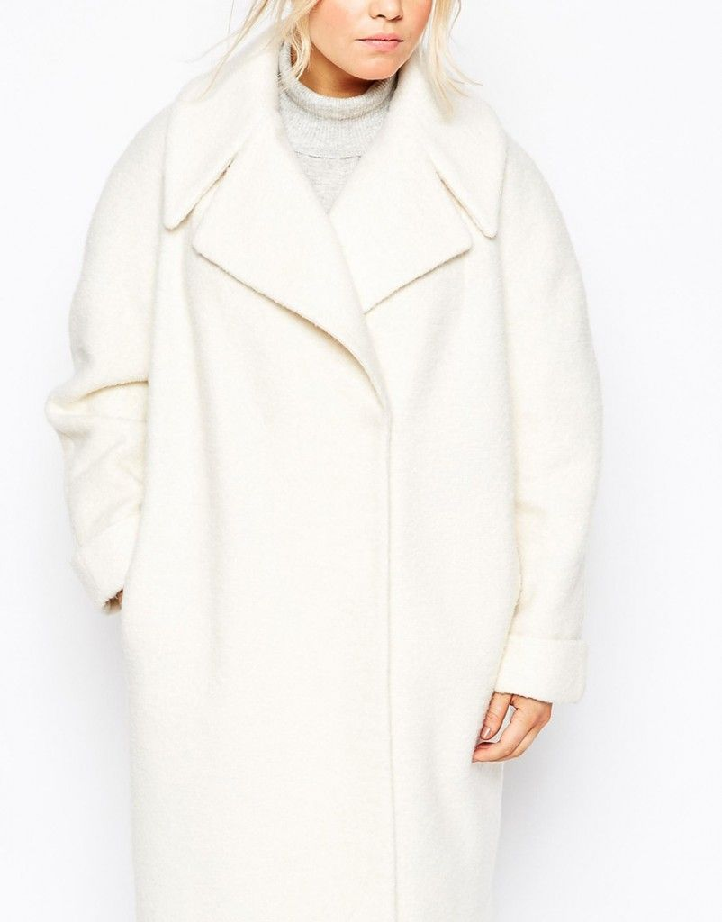 Asos cream wool oversized coat availble HERE