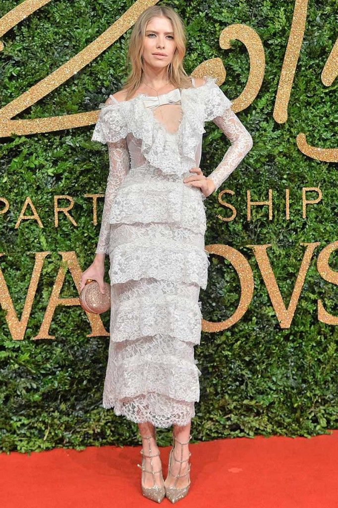 Elena Perminova wore the same dress to the British Fashion Awards 2016