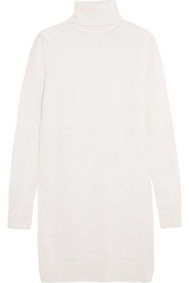 * Similar style: Equipment ivory cashmere turtleneck mini dress available at NET-A-PORTER