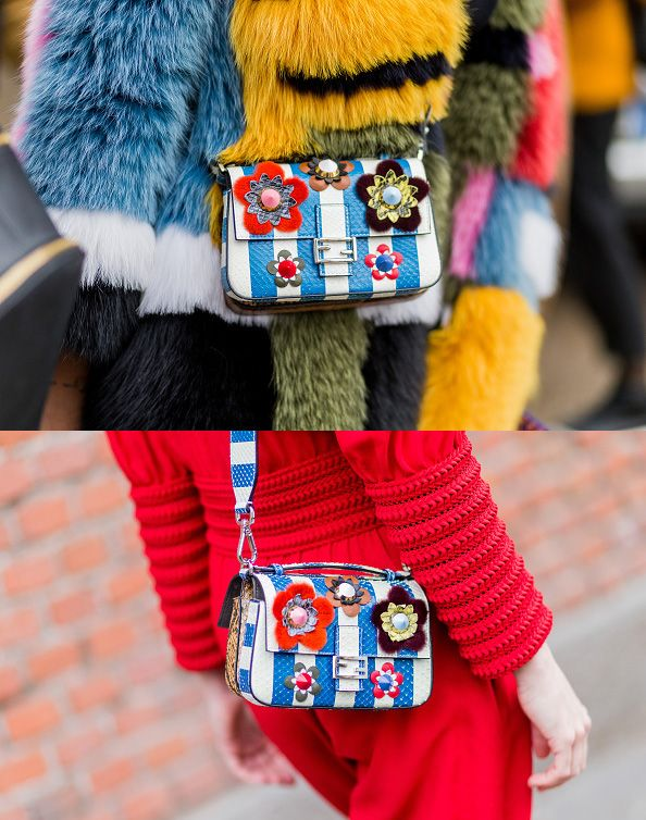 Fendi bags outside Fendi during Milan Fashion Week Fall/Winter 2016/17 on February 25, 2016, in Milan, Italy (Photo by Christian Vierig/Getty Images)