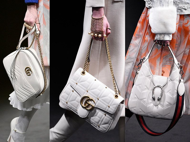 Gucci Fall 2016 white leather bags