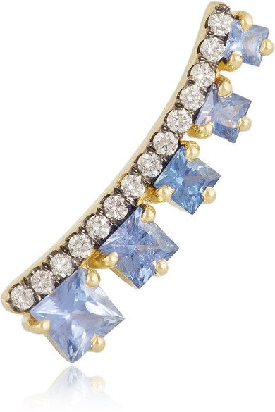 Jemma Wynne 18-karat gold ear cuff hndcrafted with sapphires and diamonds, available at NET-A-PORTER