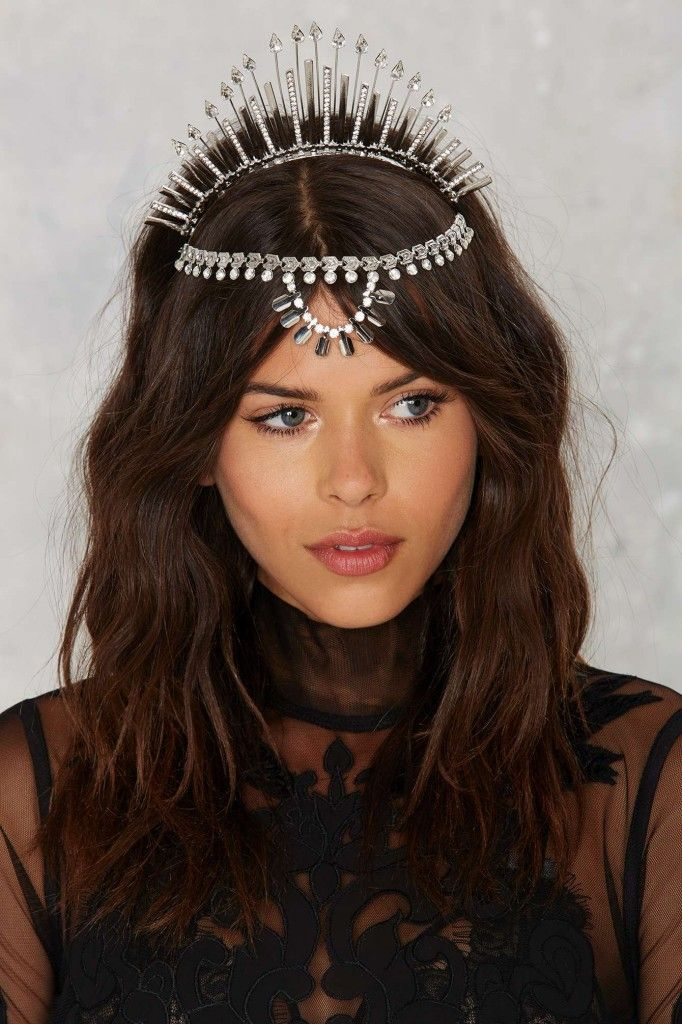 Nasty Gal Liberty silver jewel crown available t NASTY GAL
