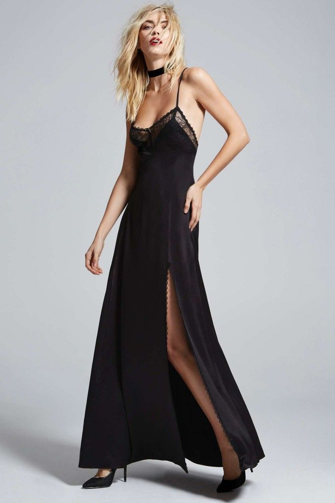* Similar: black satin slip mxi dress by Courtney Love X Nasty Gal available HERE