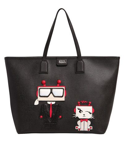 robot-karl-and-choupette-black-leather-shopper-by-karl-lagerfeld