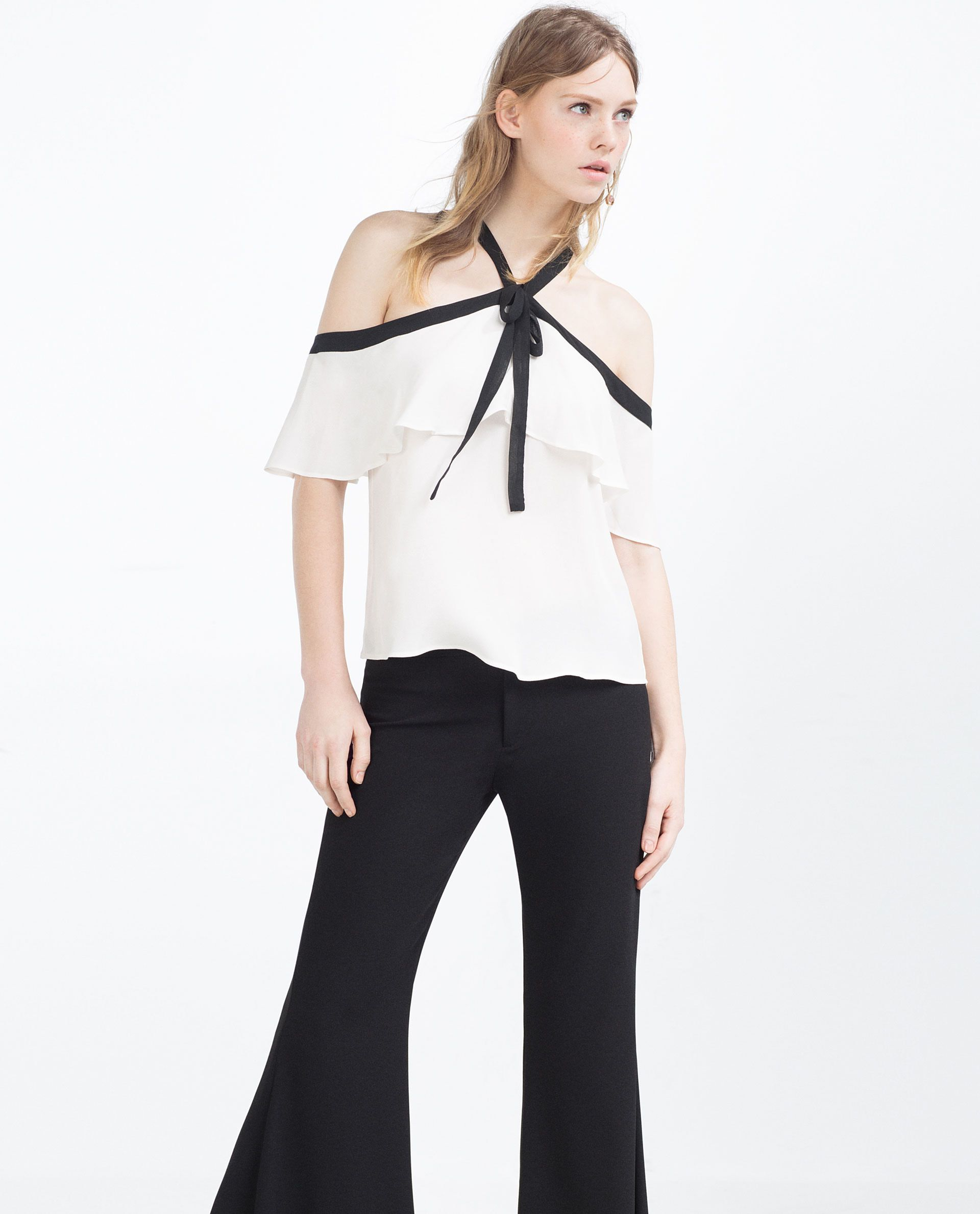 c03d955c5fdf3 Zara takes on Proenza Schouler off-the-shoulder pussy-bow frilled ...