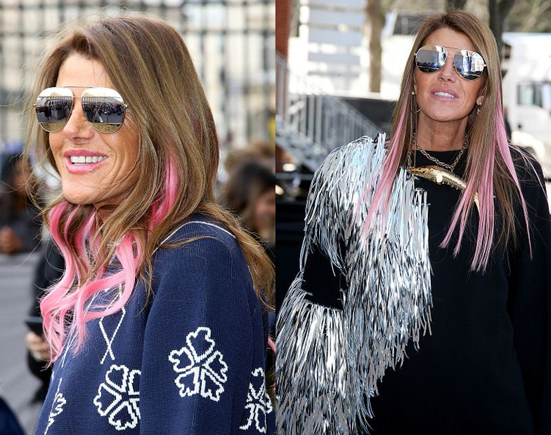 Anna dello Russo outside Dior and Céline shows during Paris Fashion Week Fall 2016