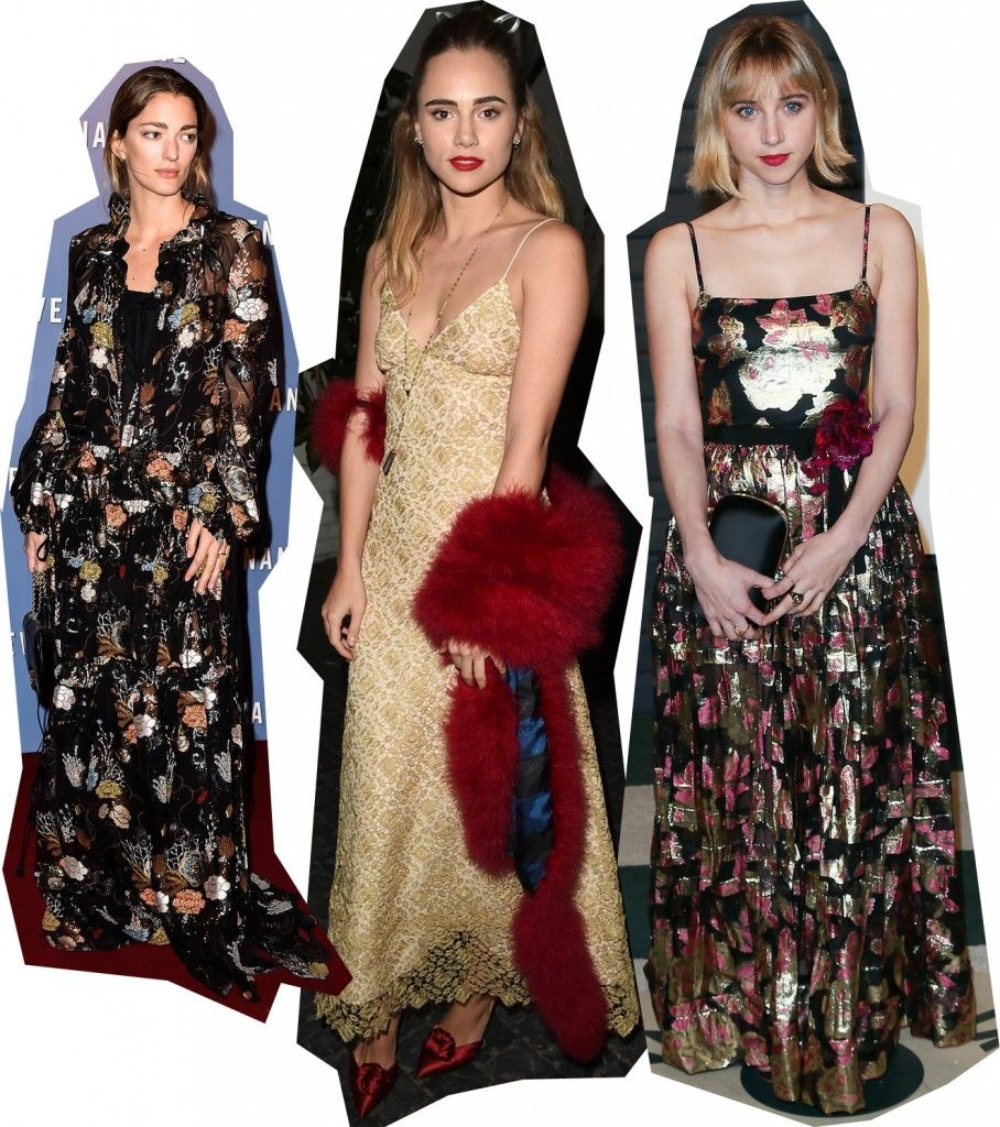 Sofia Sanchez de Betak, Suki Waterhouse and Zoe Kazan.