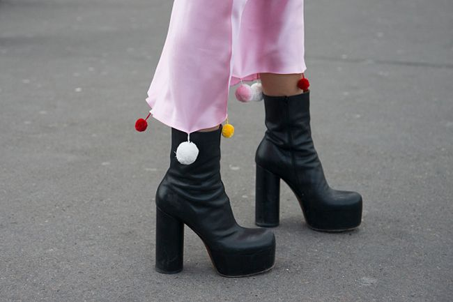 LAIA'S PICK: Vetements black lether platform boots available at MYTHERESA.com