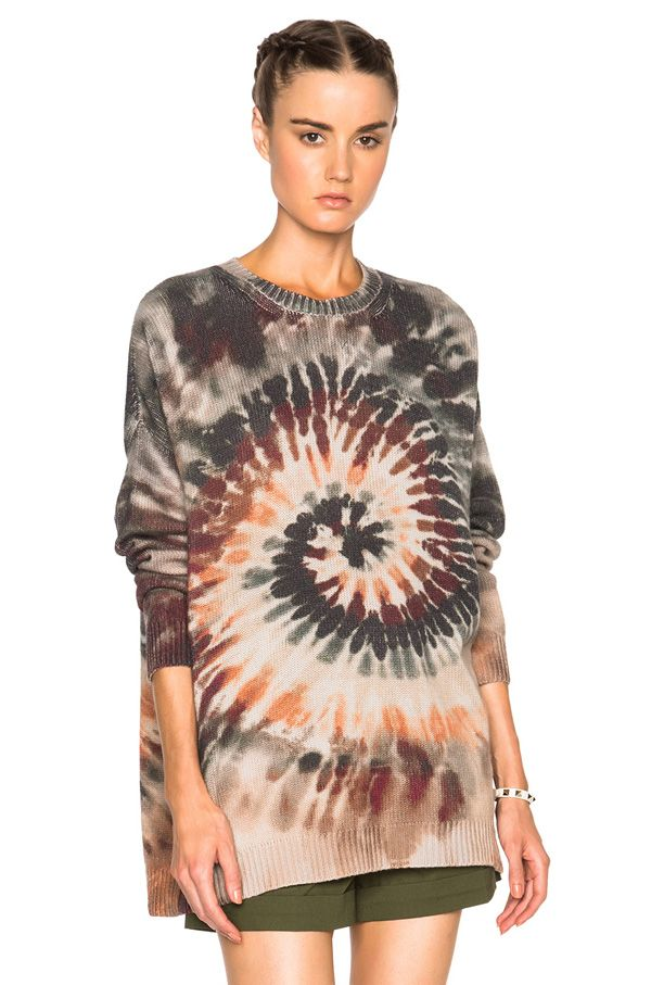 Valentino oversized long sleeve tie-dye pullover available at FORWARD BY ELYSE WALKER