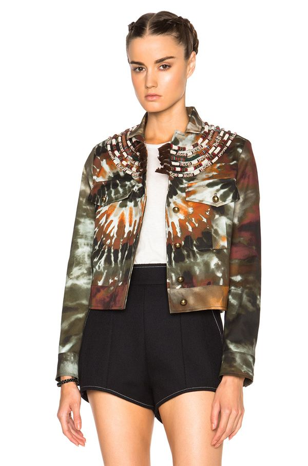 Valentino tie-dye fabarine jacket available