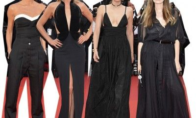 "Victoria Beckham, Doutzen Kroes, Lily Donaldson and Caroline de Maigret all wearing black at the ""Café Society"" première and the Opening Night Gala during the 69th annual Cannes Film Festival at the Palais des Festivals on May 11, 2016 in Cannes, France. (Photo by Pascal Le Segretain/Getty Images)"