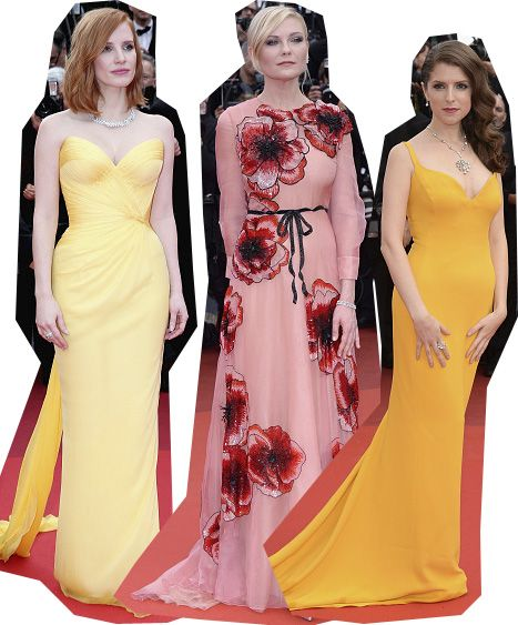 Jessica Chastain, Kirsten Dunst and Anna Kendrick.