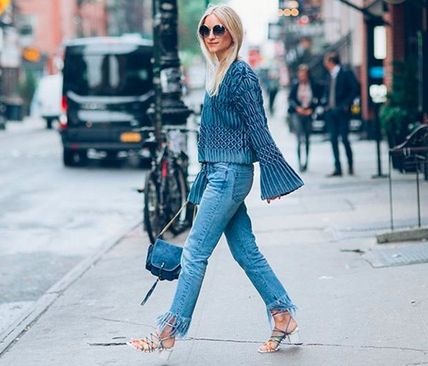 Charlotte Groeneveld: jeans + sandals