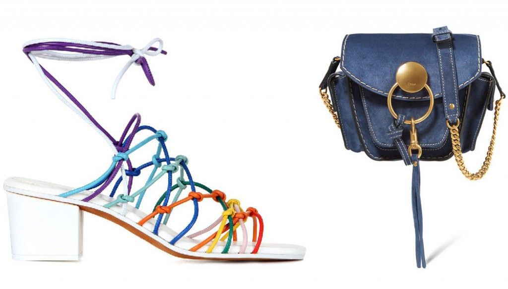 Chloé Jamie rainbow knotted leather sandals available at MYTHERESA.com and NET-A-PORTER