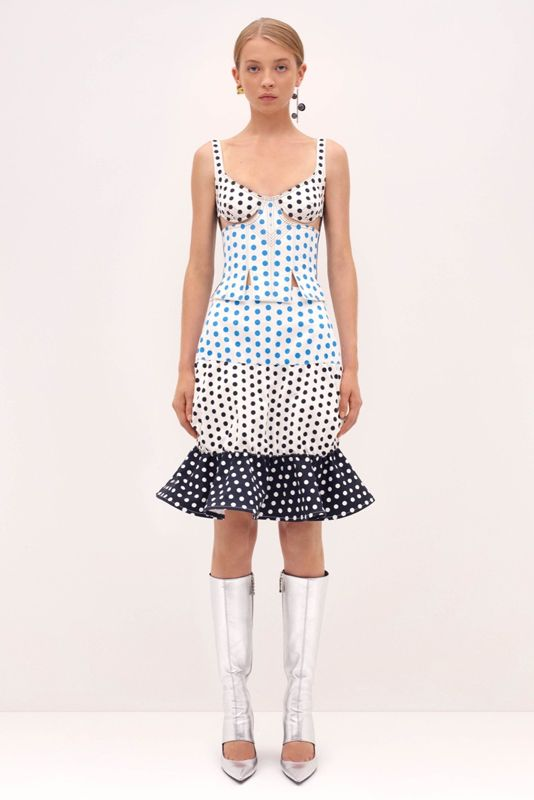 J.W.Anderson polka dot bustier dress available t LUISAVIAROM.com