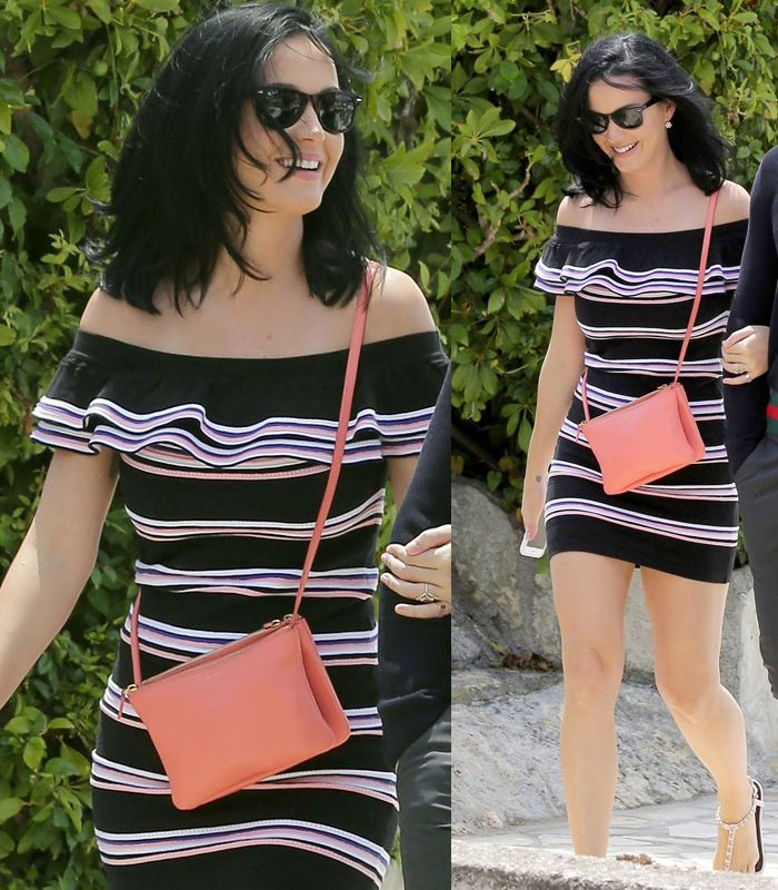 Katy Perry out in Cannes wearing MSGM