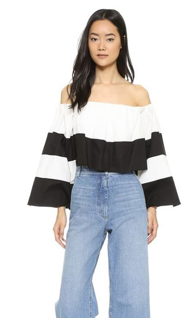 * Kendall + Kylie off-the-shoulder ruffle top available at SHOPBOP.com