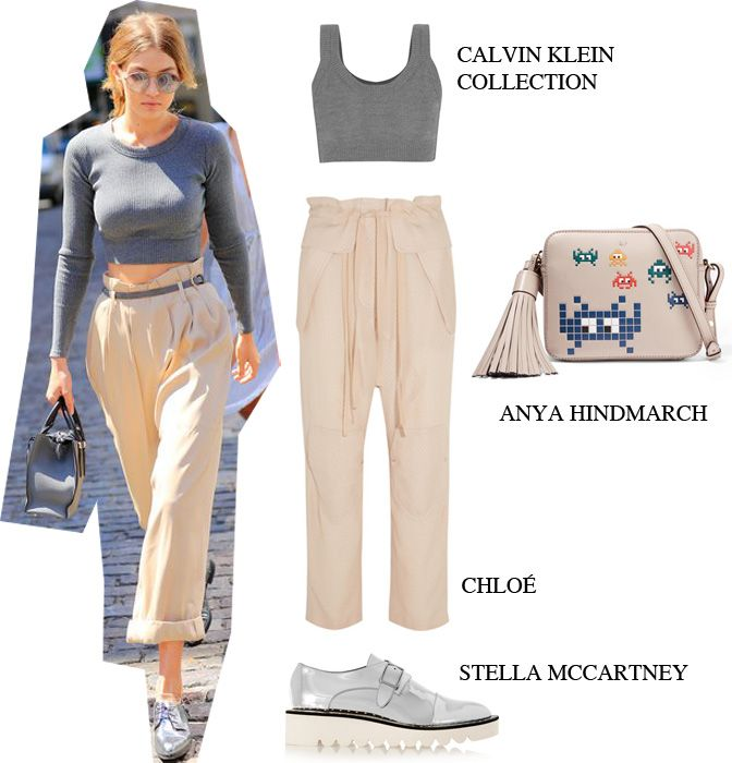 Master the key look for this Summer, à la Gigi Hadid: Calvin Klein Collection