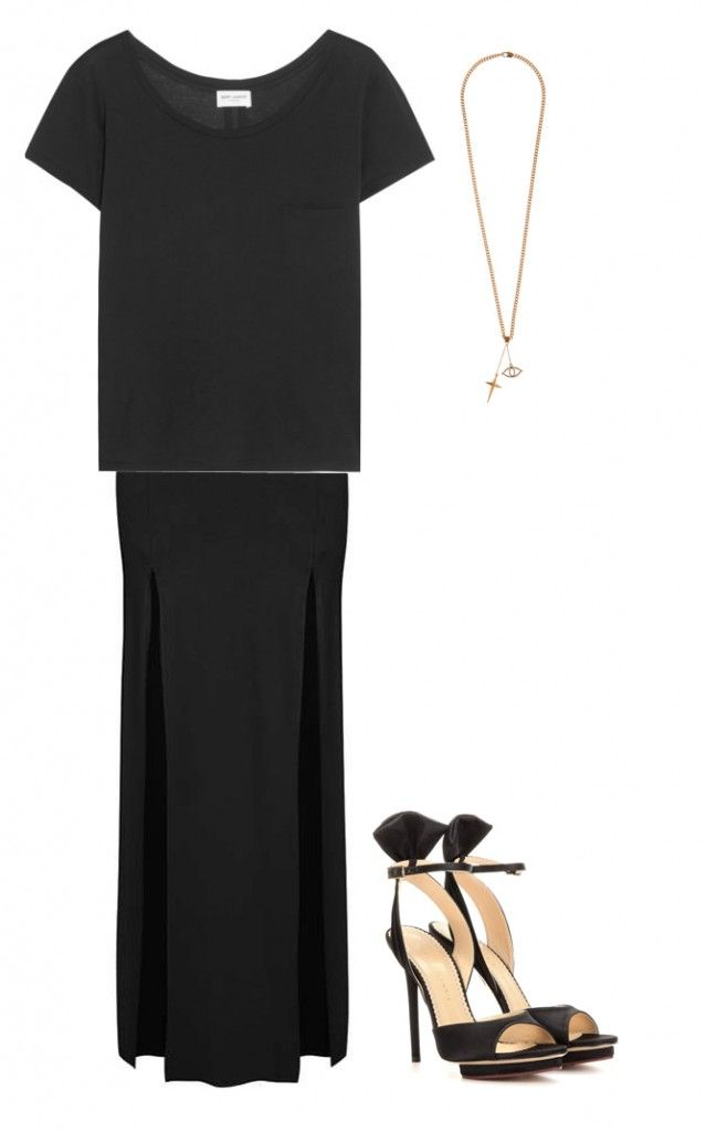 total-black-formal-outfit-with-t-shirt-and-mxi-skirt