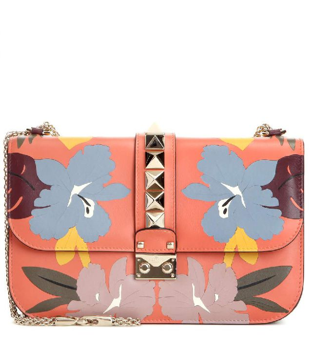 Valentino Lock Medium leather shoulder bag available at MYTHERESA.com