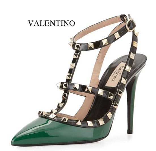 Valentino Rockstud patent-leather pump available HERE