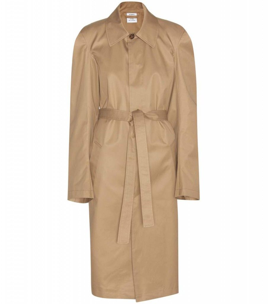 Vetements cotton trench coat available at MYTHERESA.com