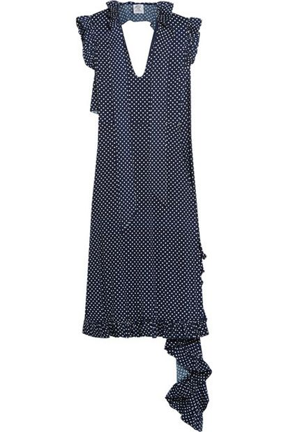 Vetements polka-dot stretch-jersey dress vilable at NET-A-PORTER