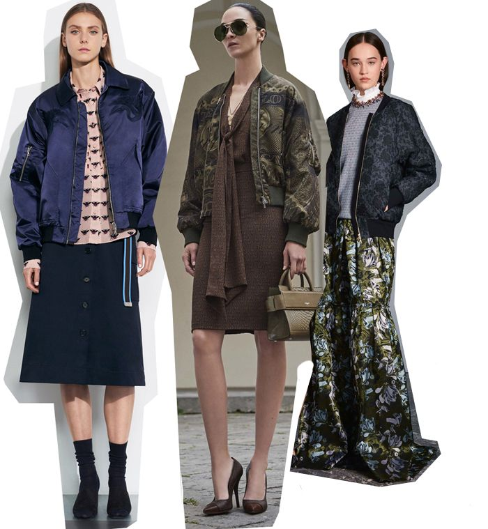 From the office to a formal event: how to wear a bomber according to Resort 2017 collections