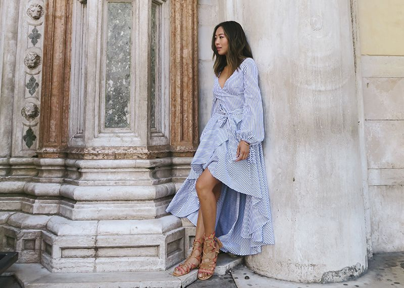 Caroline Constas, the designer behind bloggers' favourite shirting