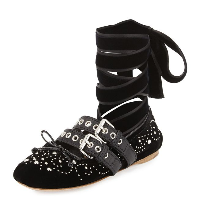 miu-miu-black-velvet-ankle-wrap-studded-ballerina-flat-with-buckle-straps-fall-winter-2016