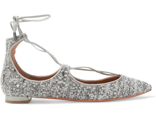 shop-aquazzura-christy-metallic-tweed-flats