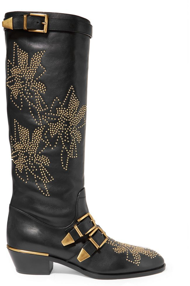 *Chloé Susanna studded leather knee boots available at NET-A-PORTER