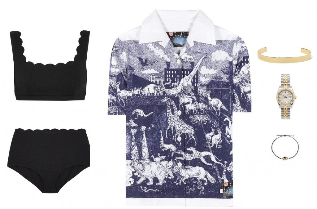 Prada printed cotton shirt available at MYTHERESA.com